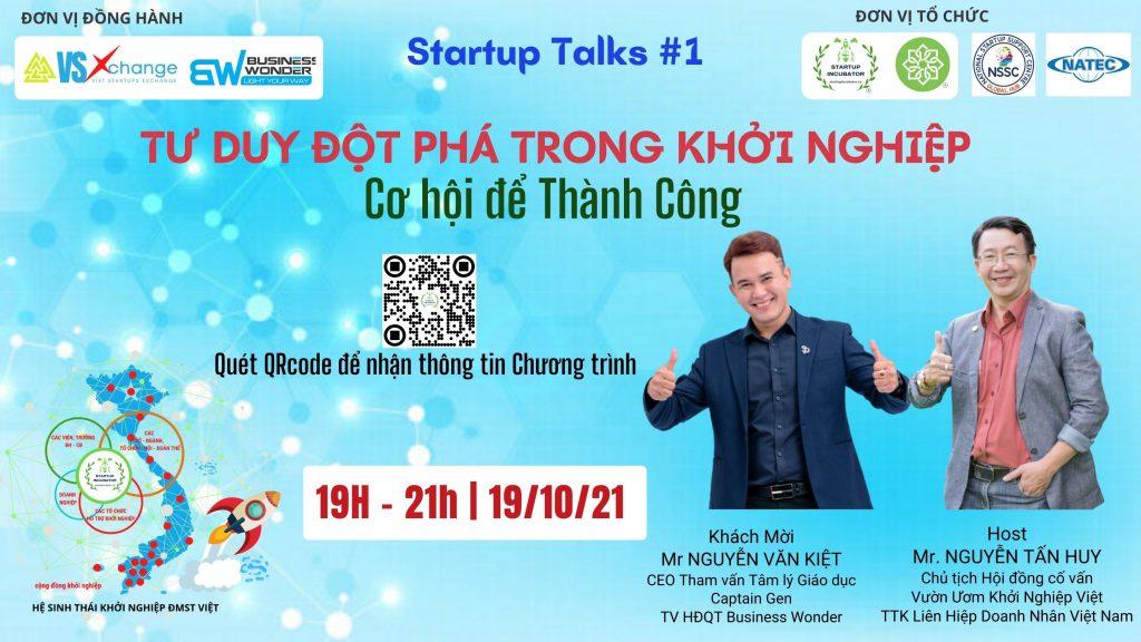 Startup Talks - Tư duy đột phá trong Khởi nghiệp - Cơ hội để thành công - Covankhoinghiep